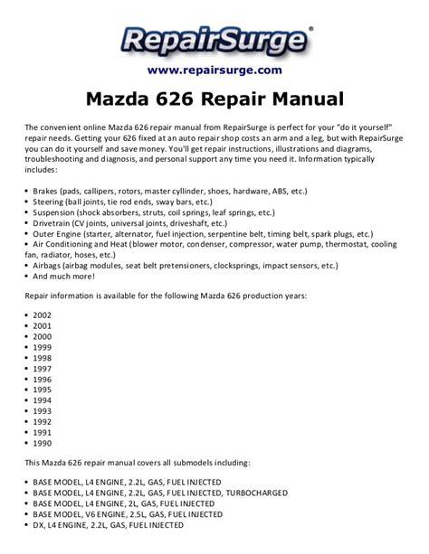online service manuals 1990 honda accord parking system mazda 626 repair manual 1990 2002