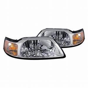 CG® - Ford Mustang 2001 Chrome Euro Headlights