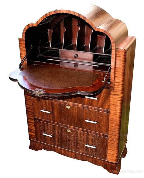 deco mahogany cloud bureau antiques atlas