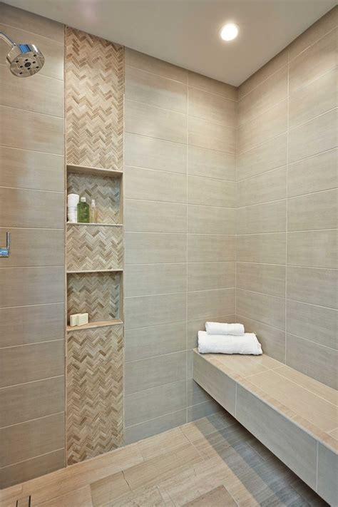 bathroom shower accent wall tile legno small herringbone