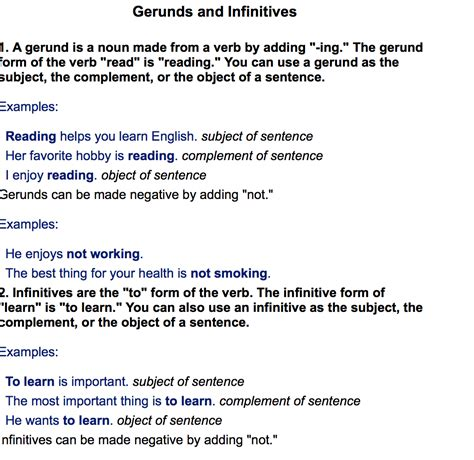 gerunds infinitives lesson lessonpick