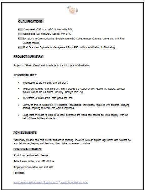 mba marketing resume sle doc 2 career