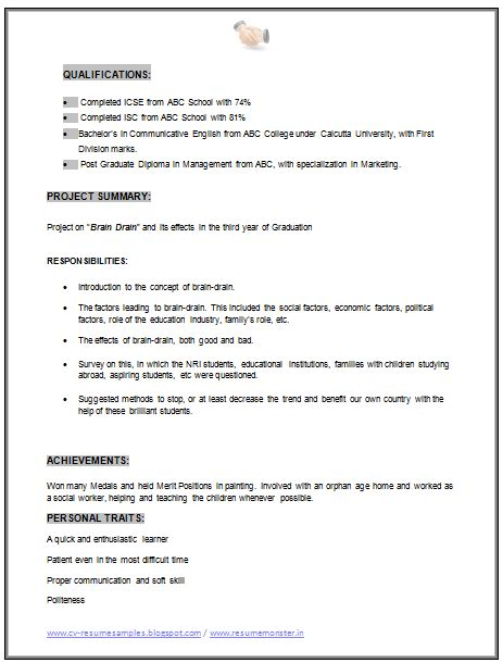 Mba Marketing Experience Resume Format by Mba Marketing Resume Sle Doc 2 Career Marketing Resume