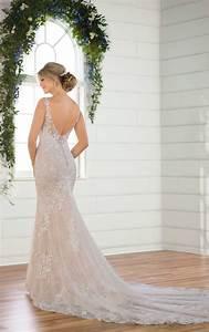 Asymmetrical Dress Designs Layered Lace Wedding Dress With Asymmetrical Neckline