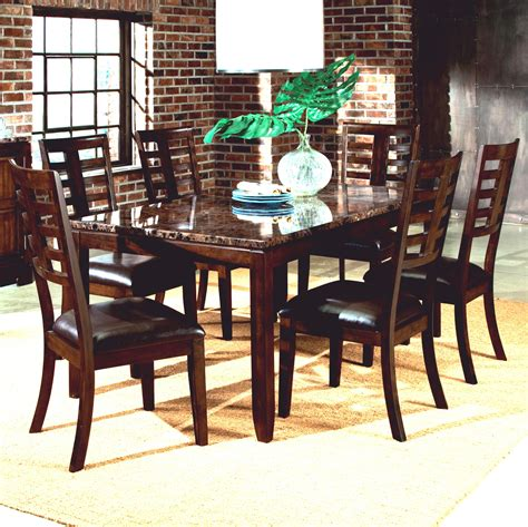 Standard Furniture Bella 7 Piece Dining Set With Faux