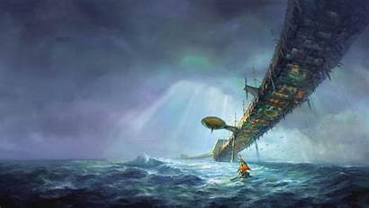 Abyss Fantasy Wallpapers Storm Sky Sea Sci