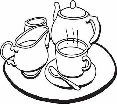 Tea Clipart Clip Party Teacup Fancy Tray