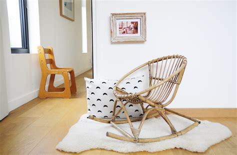 fauteuil en rotin pour enfant fauteuil en rotin 224 bascule les happyvintage