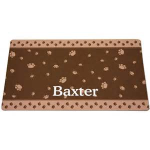 cat mats for litter box drymate brown paw border personalized cat litter box