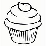 Cupcake Cake Cup Coloring Printable Cupcakes Gambar Mewarnai Simple Template Icing Drawing Outline Templates Ondel Momjunction Cherry Dessert Colouring Contoh sketch template