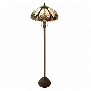 shop chloe lighting victorian 63 in dark antique bronze With floor lamps with tiffany shades