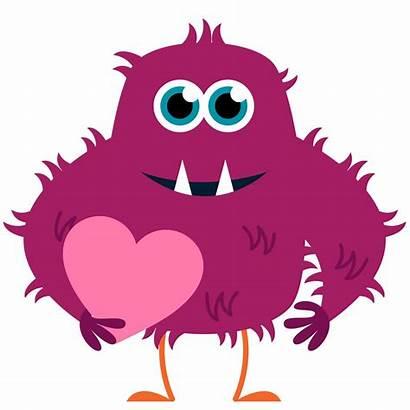Monster Happy Clipart Contest Valentiny Valentine Clip