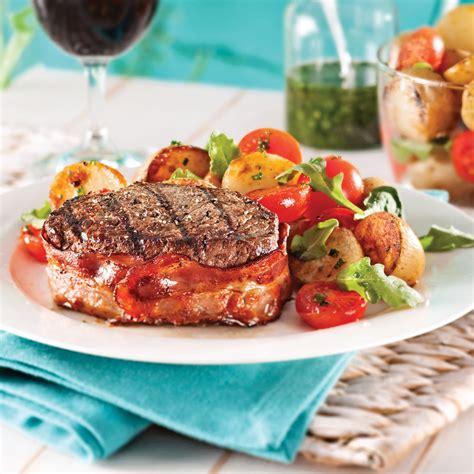 cuisiner tournedos tournedos au vin et salade tiède de pommes de terre recettes cuisine et nutrition