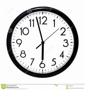 Horloge Murale Blanche : horloge murale blanche d 39 isolement sur le fond blanc photo ~ Teatrodelosmanantiales.com Idées de Décoration