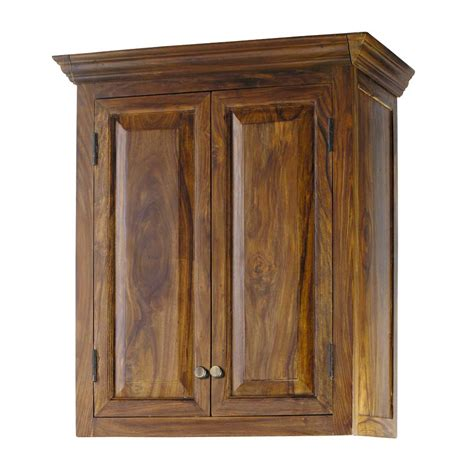 meuble cuisine en bois massif meuble haut de cuisine en bois de sheesham massif l 60 cm