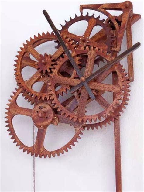 simple wooden gear clock  deadbeat escapement wooden clocks pinterest gears wooden