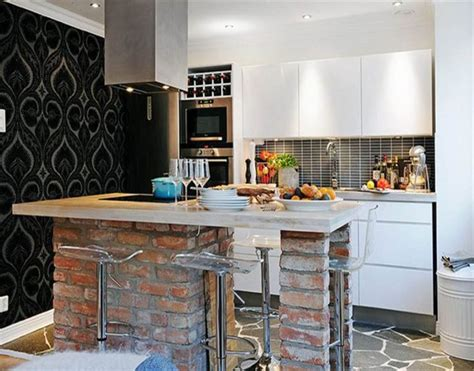 brick island kitchen 20 beautiful brick and kitchen island designs 1786