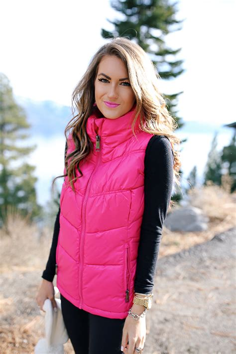 Hot Pink Puffer Vest Southern Curls And Pearls