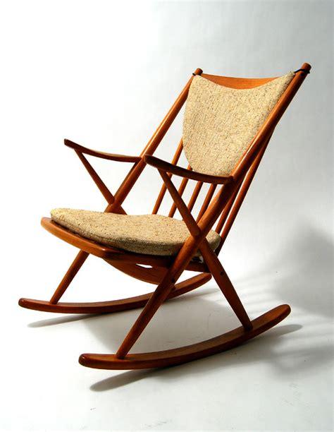 wooden mid century modern rocking chair plushemisphere