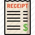 Receipt Icon Icons Premium Business Shopping