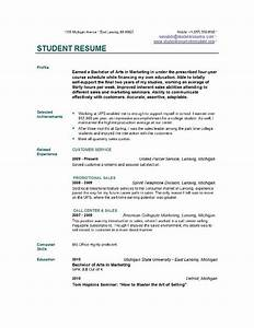 Student resume templates student resume template easyjob for Online resume maker for college students