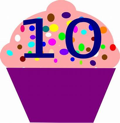 Clip Number Cupcake Clipart Numbers Outline Vector