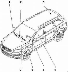 Audi Q7  2005 - 2015  - Fuse Box Diagram