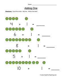 adding one worksheet teaching