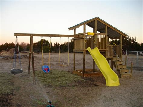 Homemade Backyard Playsets  Outdoor Furniture Design And