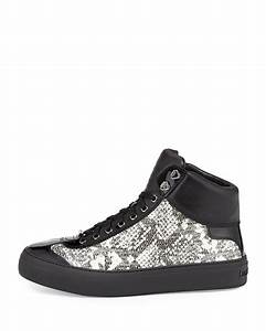 Jimmy Choo Argyle Mens Snakeembossed Hightop Sneaker in ...