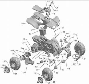 Power Wheels Red Kfx 1 Parts