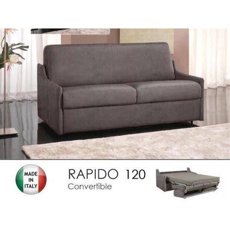 canap 233 lit 2 3 places convertible rapido 120cm microfibre taupe achat vente canap 233