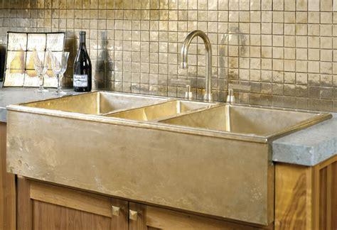 Bronze Kitchen Sink And Backsplash  Traditional  Kitchen