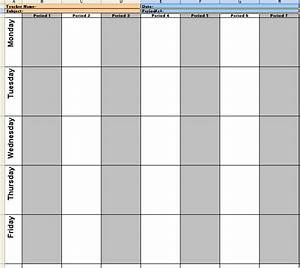 teacher weekly lesson plan template With 6 week lesson plan template