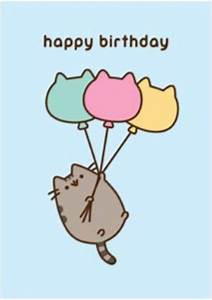 Pusheen Birthday Card Official Greetings Cute Crazy Cat ...
