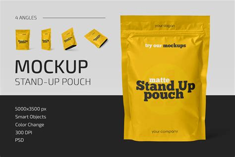 Don't forget to share with your friends! Matte Stand-Up Pouch Mockup Set - Counrty4k