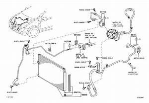 Toyota Prius A  C Refrigerant Hose  Pipe  Cooler
