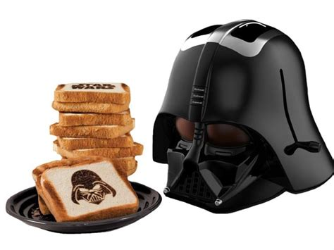 darth toaster helmet shaped darth vader toaster takes bread to the