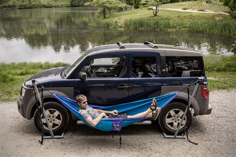 Car Hammocks by Eno Roadie Car Hammock Stand Hiconsumption