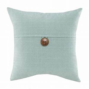 Mainstays, Dynasty, Square, Coconut, Button, Accent, Decorative, Throw, Pillow, 18, U0026quot, X, 18, U0026quot, Turquoise