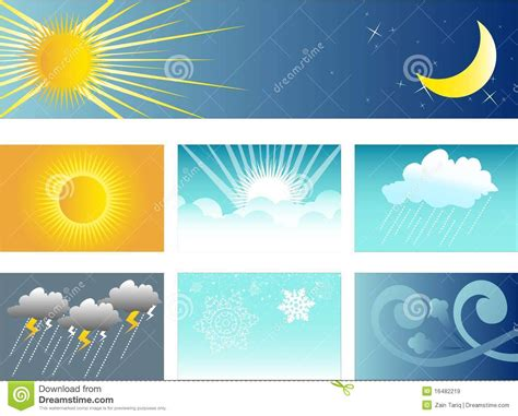 weather  climate banner  background stock vector