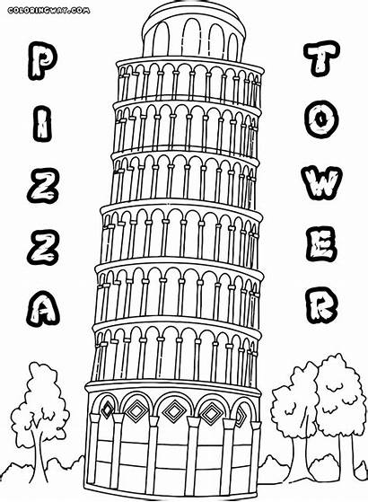 Tower Coloring Pages Building Colorings