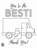 Coloring Sheet Delivery Pdf Grocery Sheets Driver Downloadable sketch template