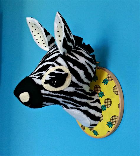 zebra head sewing pattern faux taxidermy  diy safari