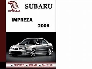 Subaru Impreza 2006 Workshop Service Repair Manual Pdf