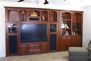 Built in Entertainment Center Big Screen TV