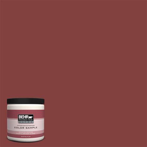 behr premium plus ultra 8 oz s h 170 brick matte interior exterior paint and primer in one