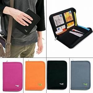 Travel passport credit id card document holder case bag for Travel document organizer case