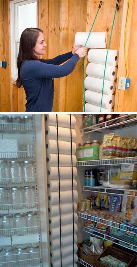 genius tips  creating hanging pantry storage lazytries