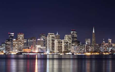 2560x1600 light lights building river san francisco